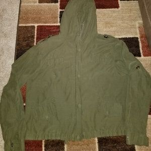 Brandy Melville army green small jacket